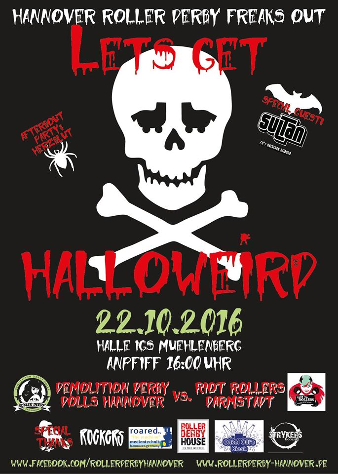 Homebout Rollerderby Hannover vs. Riot Rollers Darmstadt 2016